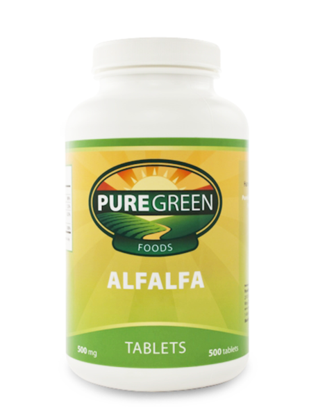 <strong> ALFALFA TABLETS (500 ct)     (500 mg) <br> <i>Made with 100% Organic Alfalfa</i></strong>