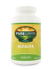 <strong> ALFALFA TABLETS (250 ct) (500 mg) <br> <i>Made with 100% Organic Alfalfa</i></strong>