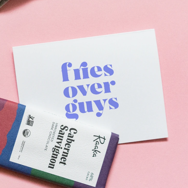 Fries Over Guys Card