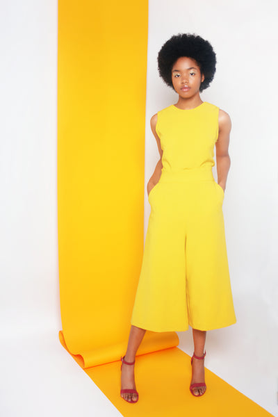 LOURDES JUMPSUIT - YELLOW