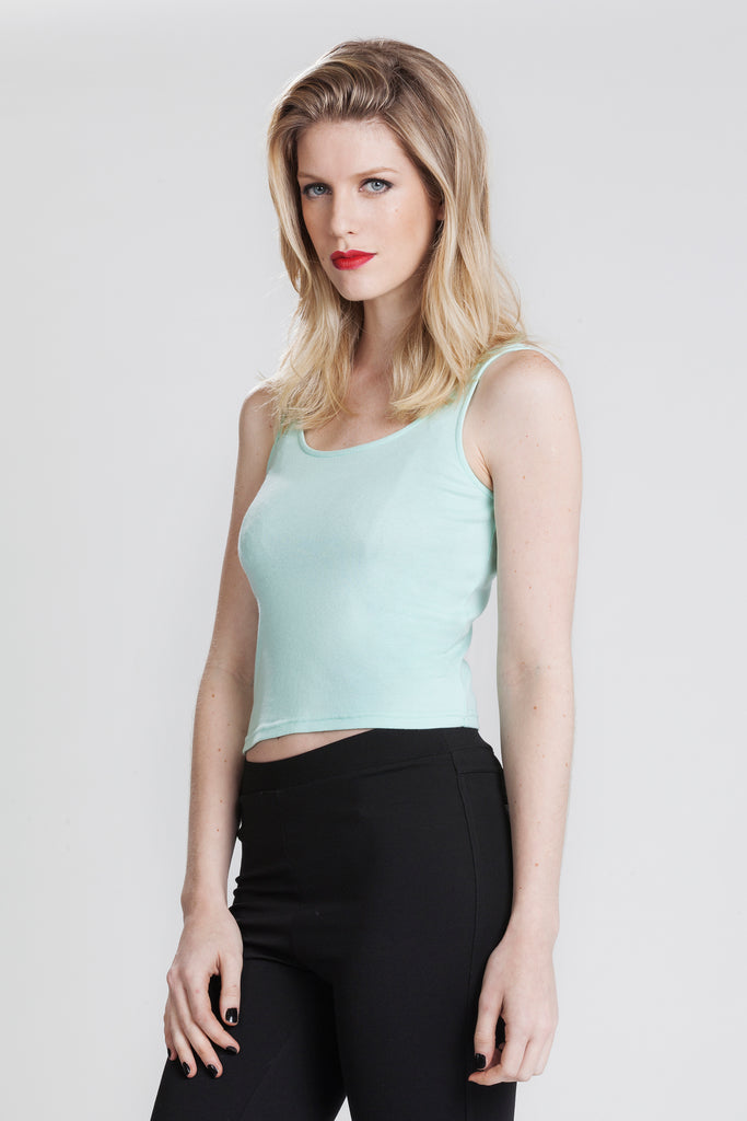 Carla Sleeveless Cropped Tee