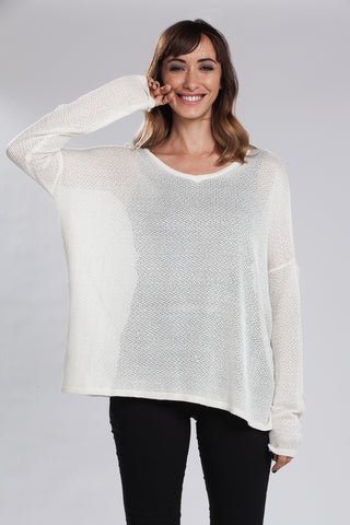 Letizia Oversize V-Neck Knit Sweater