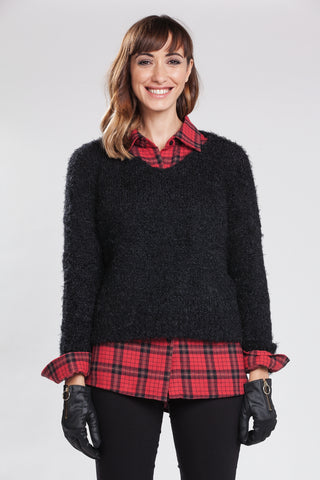 Fiona V-Neck Knit Sweater