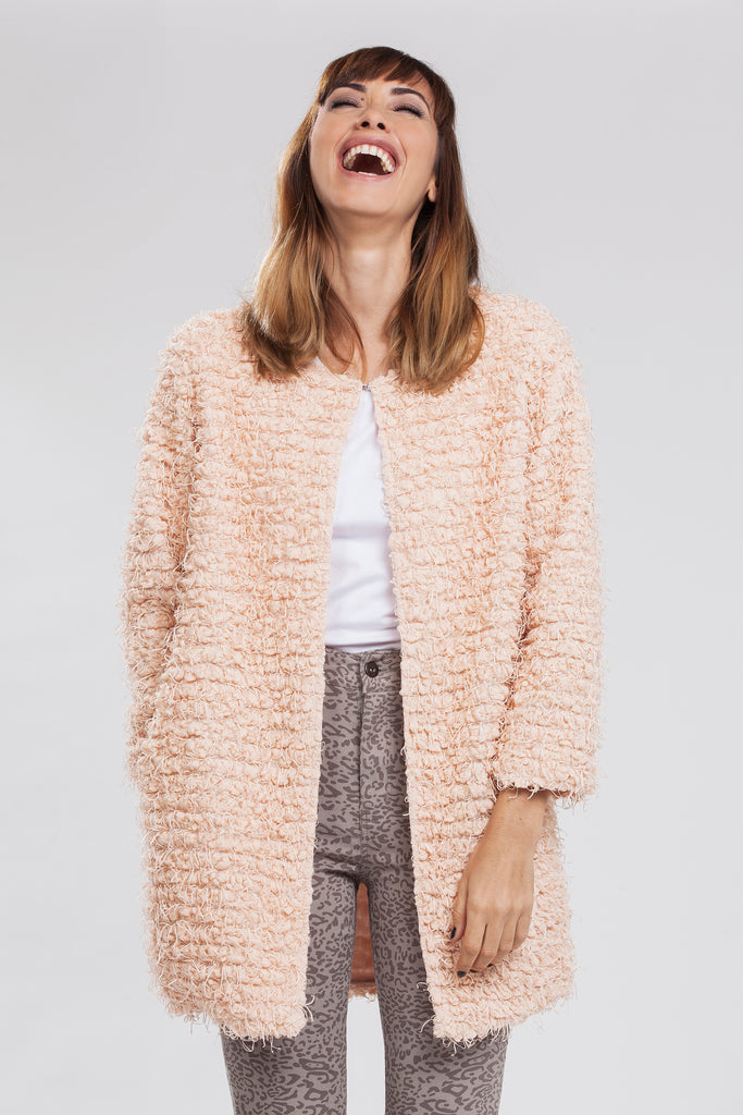 Bianca Open Fluffy Knit Coat