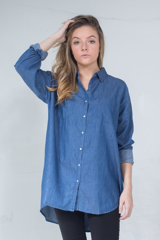 DJ B Denim Shirt Oversized One Size LA-012B