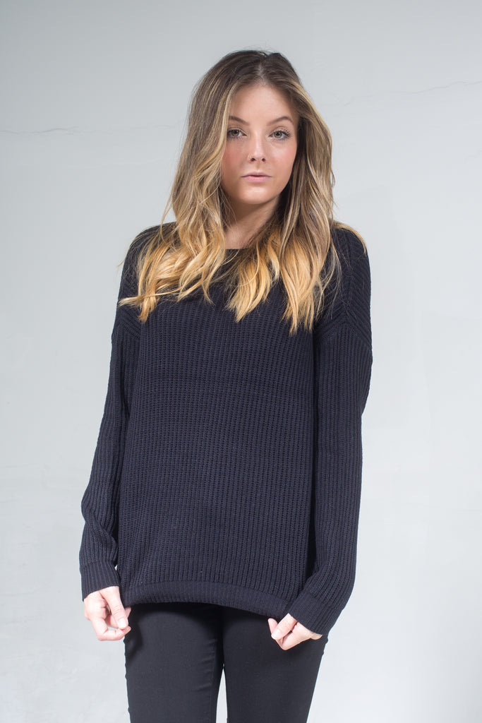 Faith Oversized Round Neck Sweater LA-008