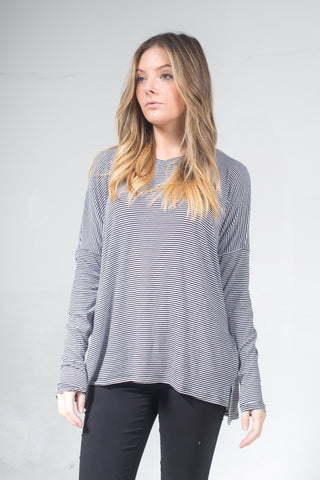 Fina Stripes Oversize Tee One Size BA-039B