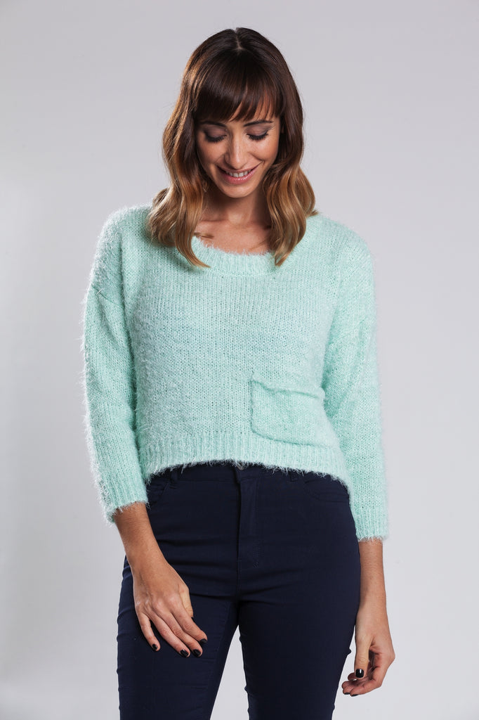 Isabella Feather Knit Sweater