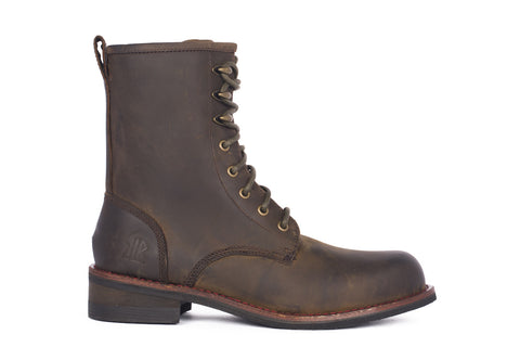 Pat - Dark Brown - KLR Footwear Boots