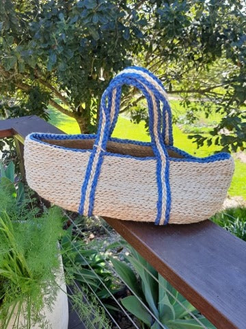 Jute Woven Basket with Handles