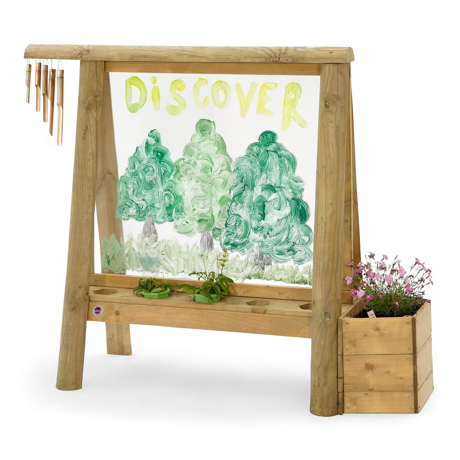Plum Discovery Wood Create and Paint Easel