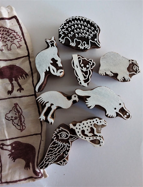 Stamps Traditional Block Print - Australian Animals  Pre order for Feb'21