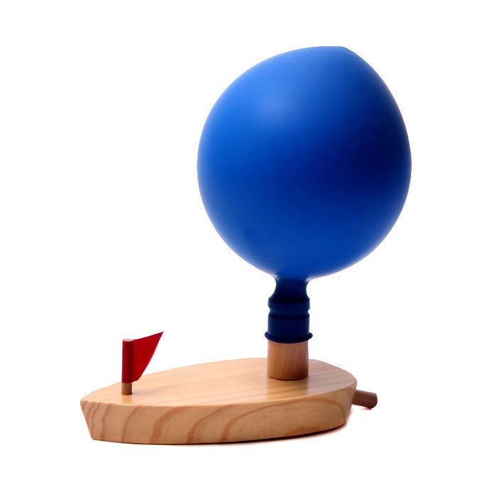 Wooden Boat Balloon Powered