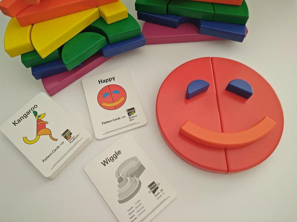 Circle Set Blocks with Pattern Cards. Sale $90.00 Normally $120.00 Available August