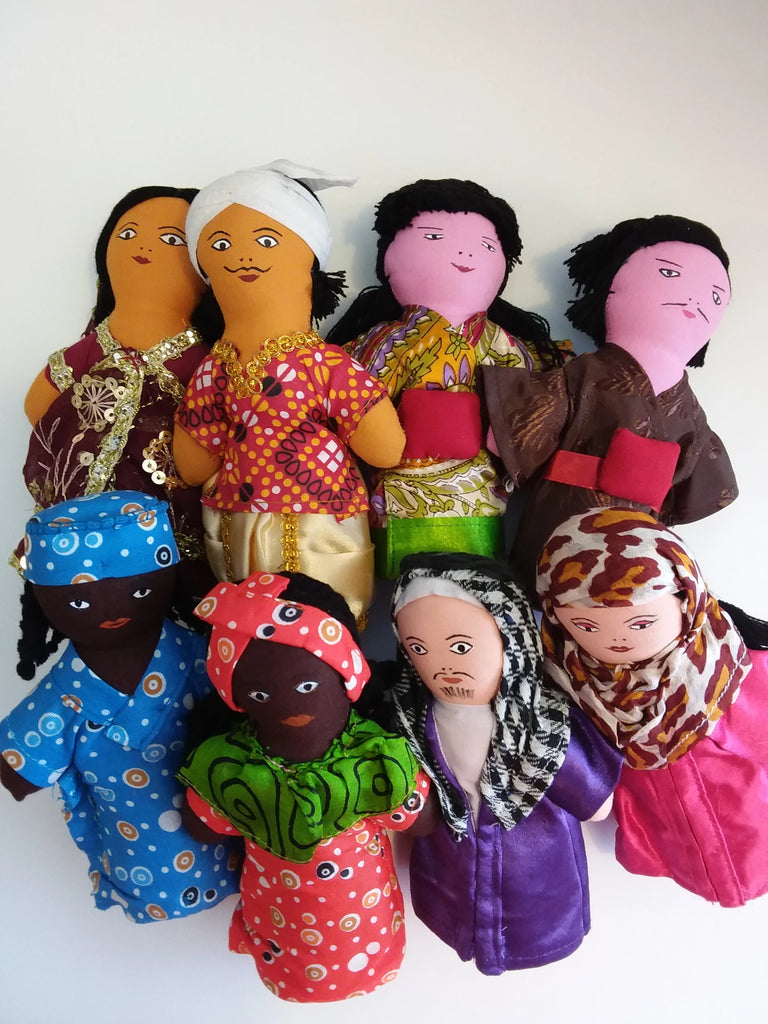 Dolls - Multicultural Pairs Collection Set of 4.