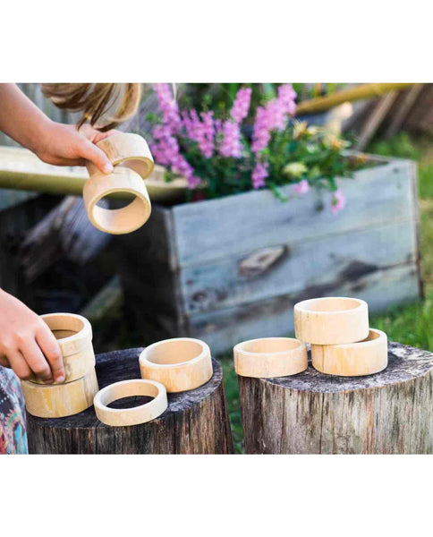 Bamboo Building & Rolling Rings - Loose Parts Play