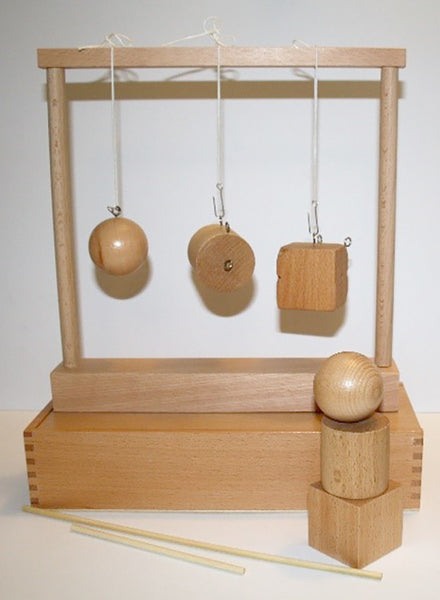 Froebel Gabe No. 2 - Sphere, Cylinder and Cube.