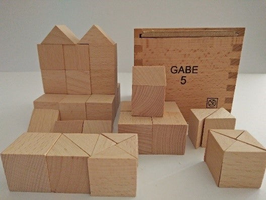 Froebel Gabe No. 5 -  Cubes and Triangular Prisms