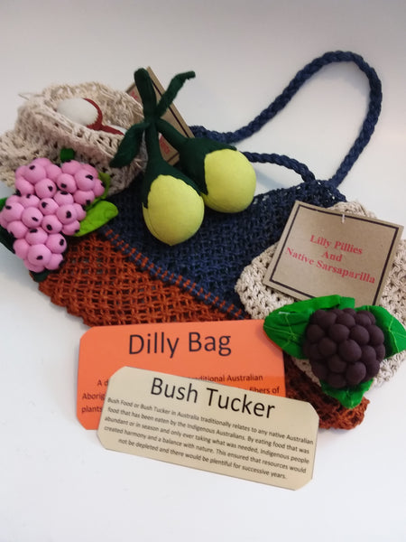 Bush Tucker Food - Native Fruits with Dilly.