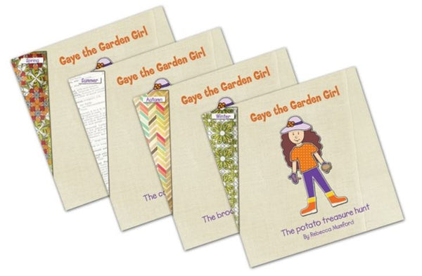 Book Set of 4 - Gaye the Garden Girl by Rebecca Mumford