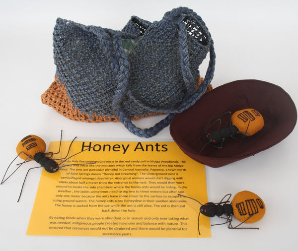 Bush Tucker Food - Honey Ants, Coolamon and Dilly. Delivery July. Pre-order available.
