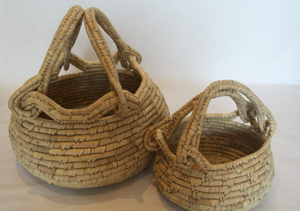Date Palm Baskets with Handles