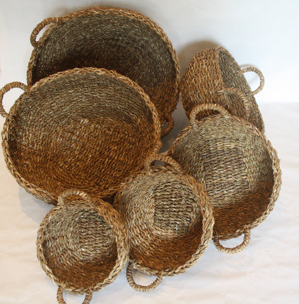 Hogla Leaf Round Nesting Baskets set of 6