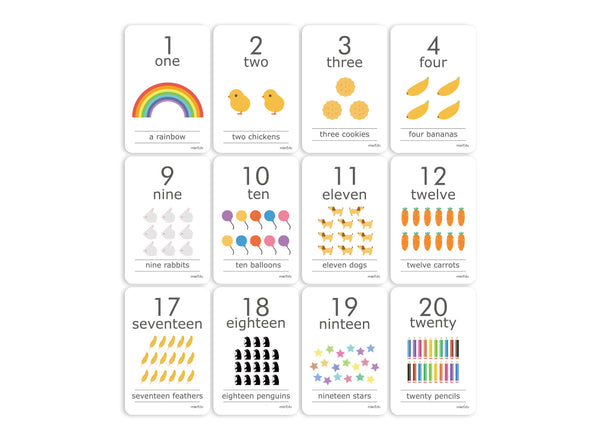 Baby and Child Flash Cards - Numbers