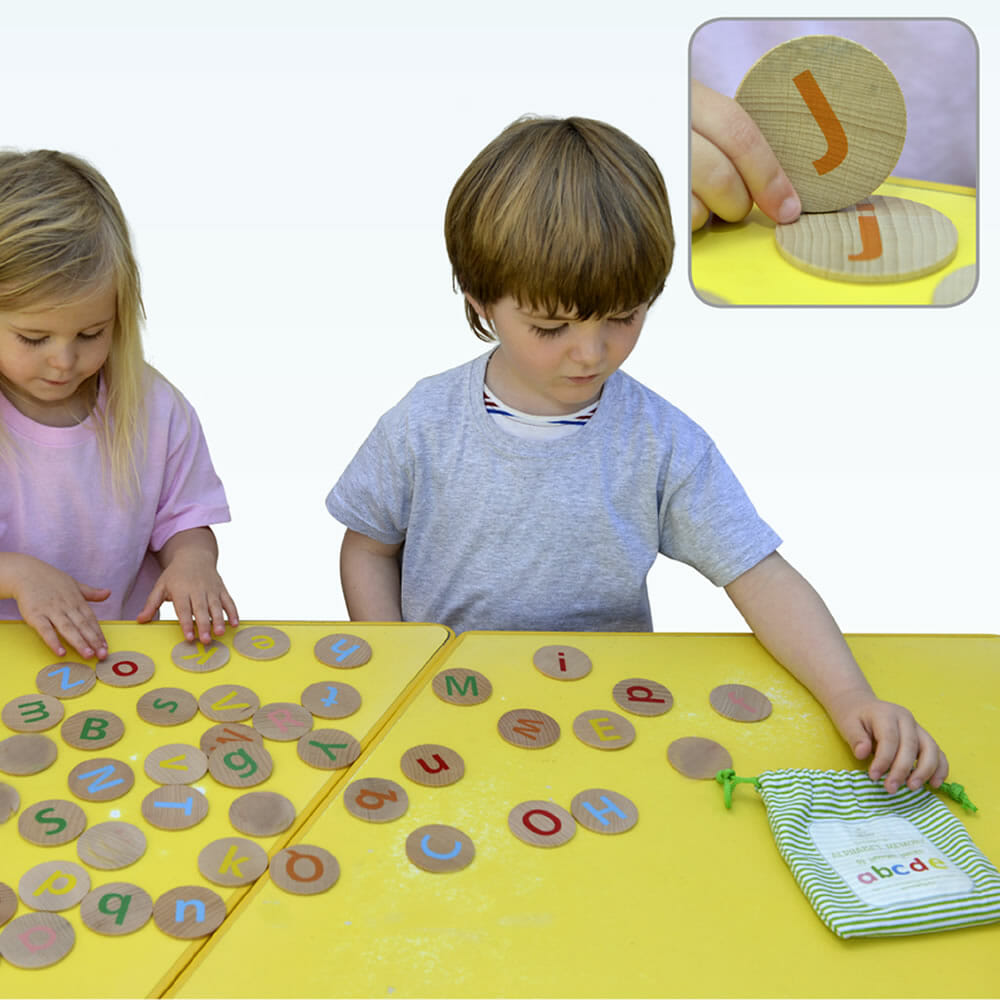Tactile Alphabet Matching Pairs Upper and Lower Case - Coloured
