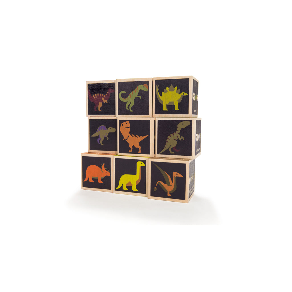 Wooden blocks Dinosaurs