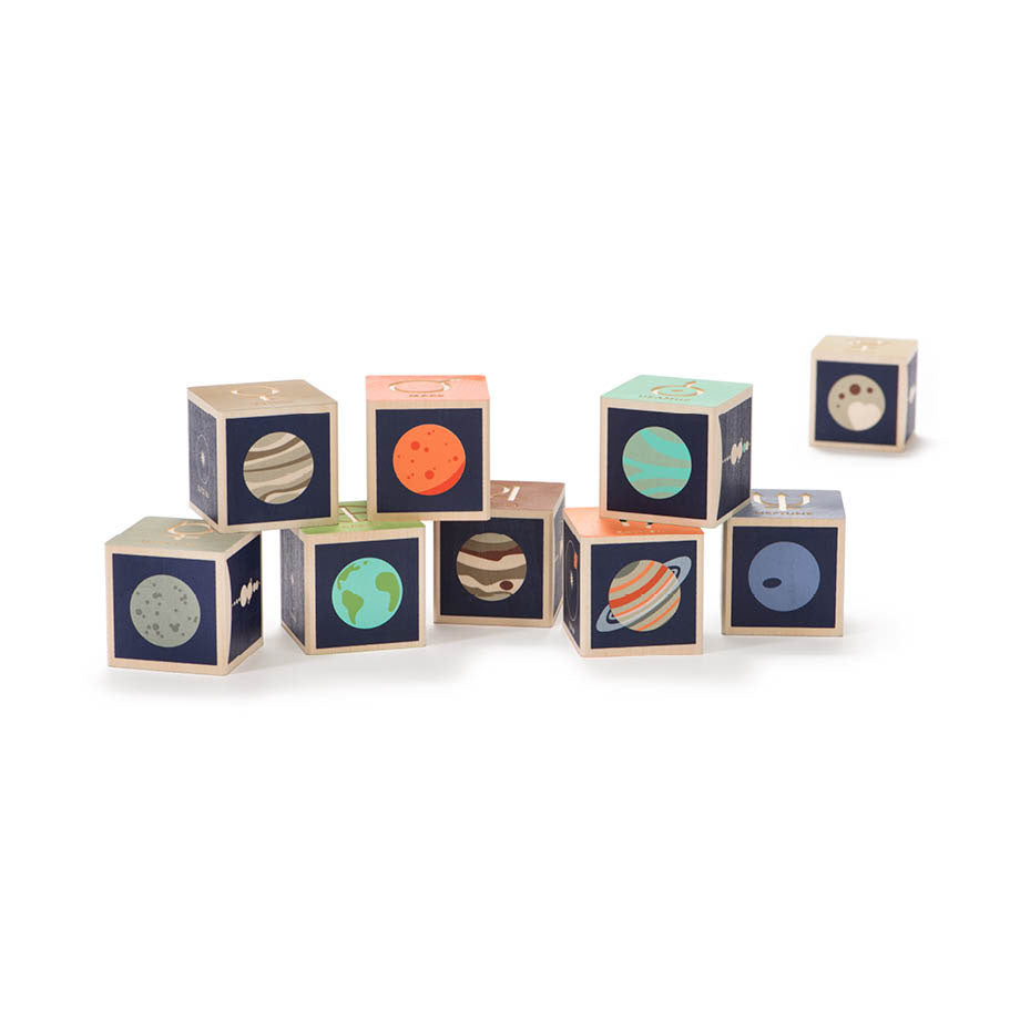 Wooden Blocks Planets