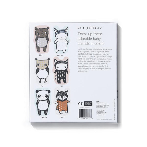 Wee Gallery - Baby Animal Lacing Cards
