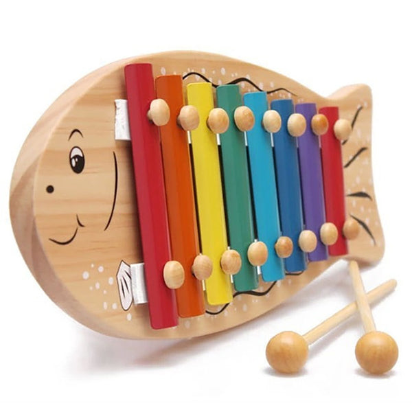 Wooden Fish Xylophone with 8 Scales