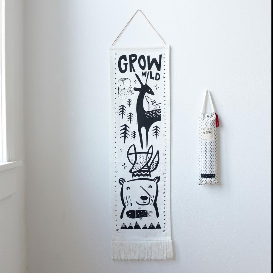 Wee Gallery - Organic Canvas Growth Chart - Woodland