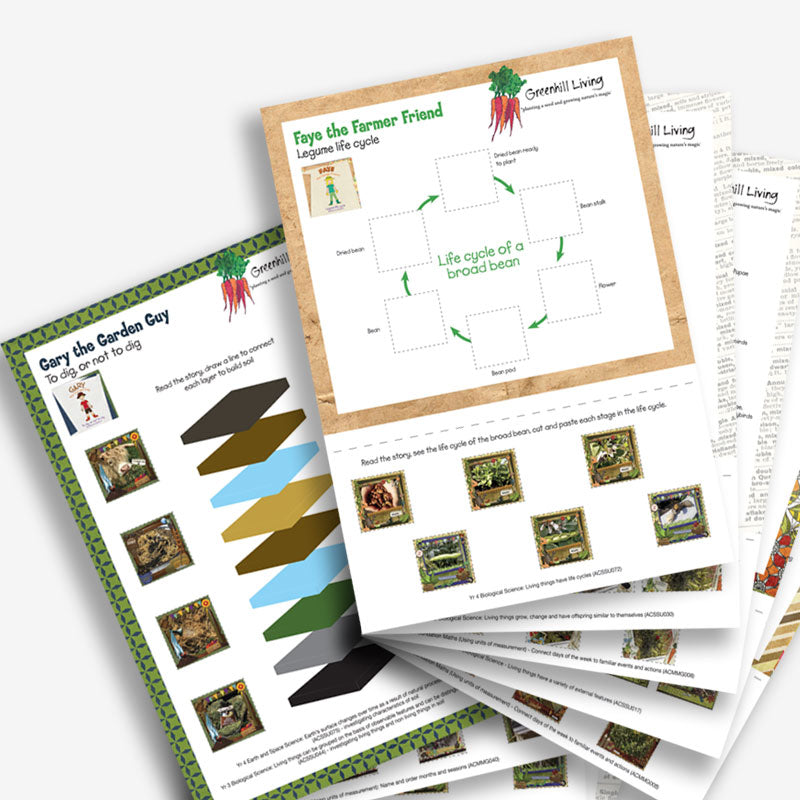 Books - The Gardening Gang and Gaye the Gardening Girl - Book Sets Worksheets