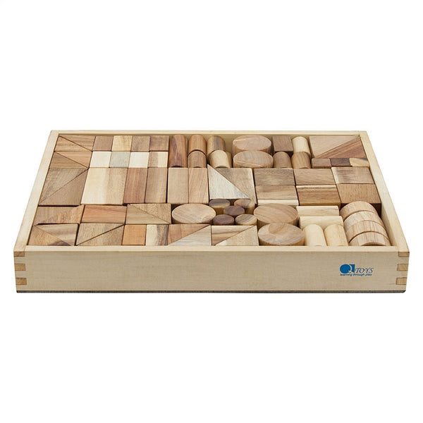 Wood Unit Blocks in Storage Tray 117 pieces
