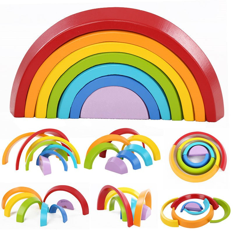 Wooden Rainbow Blocks