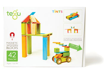 Tegu Magnetic Wooden Blocks 42pc Tint Set