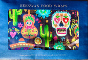 Killer Beeswax Food Wraps - Day of the Dead