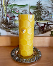 Honey Comb Beeswax Pillar Candle