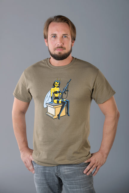 "Men's ""Protect The Hive"" M4 T-Shirt - OD Green"