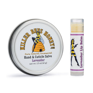 Natural Honey Lip Balm & Beeswax Salve Set