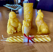 Beeswax Spiral Candles (2 candles)