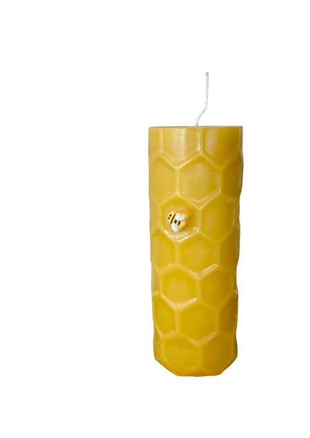 Beeswax Honey Comb Pillar Candle