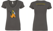 "Women's ""Pure, Natural, Uncensored"" Killer Queen Bee T-Shirt - Dark Gray"