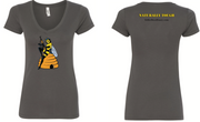 "Women's ""Naturally Tough"" Killer Queen Bee T-Shirt - Dark Grey"