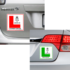 Learner & New Driver Magnetic Decals