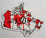Canada Commemorative 150th Limited Edition MAPag Magnetic Decal