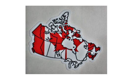 Canada map and flag adhesive Decal