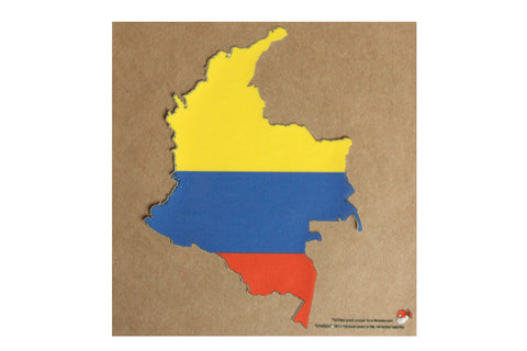 Columbia map and flag static cling Decal
